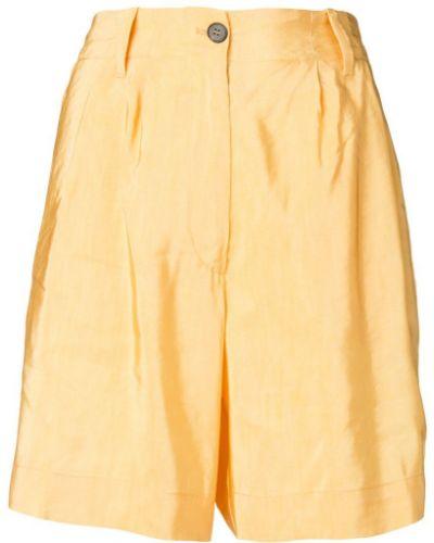 Однобортные желтые шорты на пуговицах Forte Forte