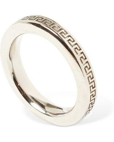 Srebro pierścień metal Versace