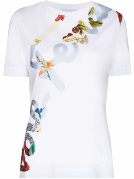 Белая хлопковая футболка Salvatore Ferragamo