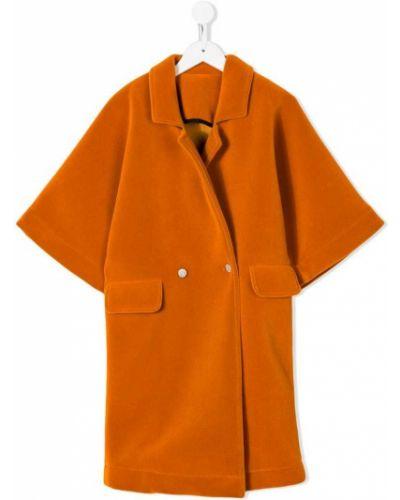 Длинное пальто желтый бархатный Caroline Bosmans