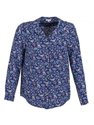 Niebieska koszula z jedwabiu Manoush