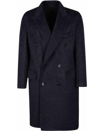 Niebieski płaszcz Brioni