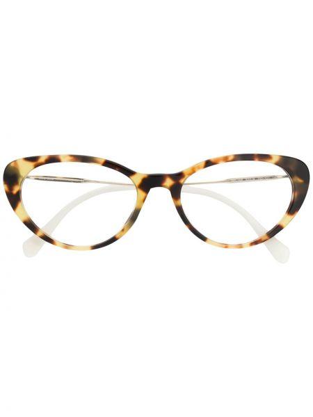 Очки кошачий глаз металлические Miu Miu Eyewear