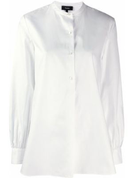 Рубашка с длинным рукавом белая расклешенная Theory
