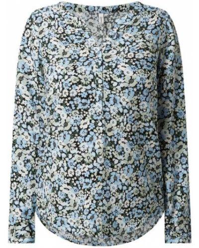 Niebieska bluzka z długimi rękawami z wiskozy Soyaconcept