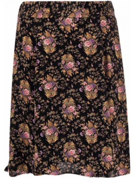 Czarna spódnica w kwiaty Bytimo