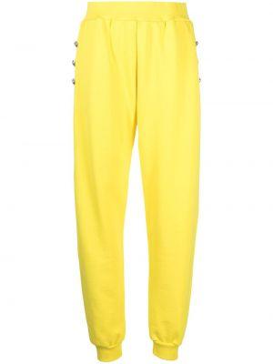 Флисовые спортивные брюки - желтые Philipp Plein