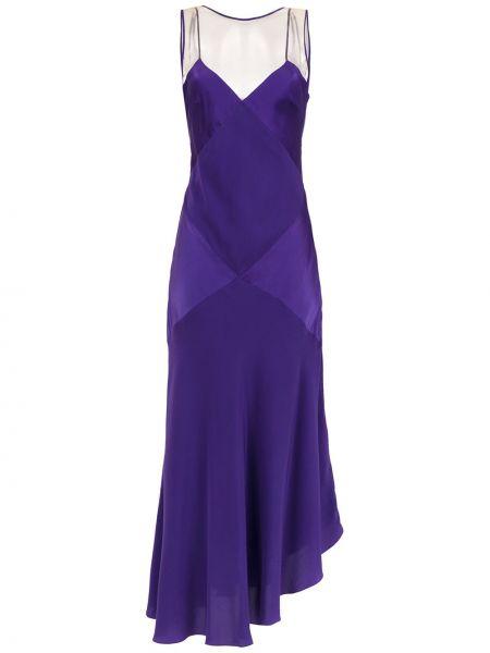 Асимметричное фиолетовое платье макси на молнии Mara Mac