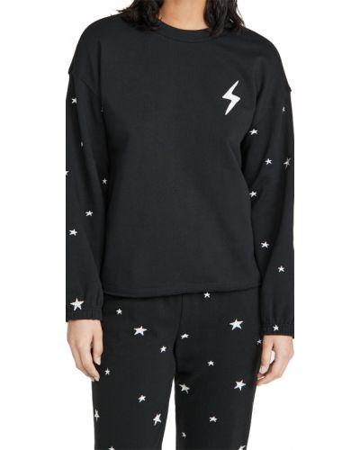 Хлопковый черный пуловер на молнии Pj Salvage