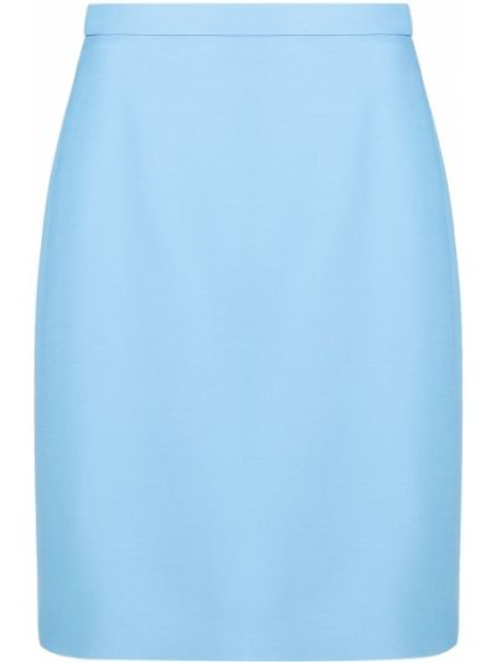Prosto jedwab niebieski z wysokim stanem spódnica mini Gucci