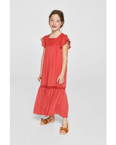 Красное платье Mango Kids