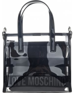 Силиконовая сумка - черная Love Moschino