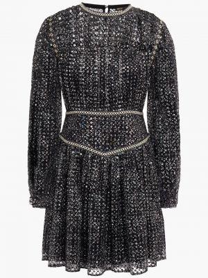 Черное платье с пайетками Maje