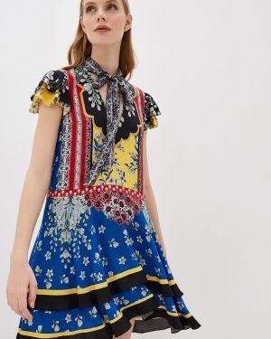 Повседневное платье осеннее синее Alice + Olivia