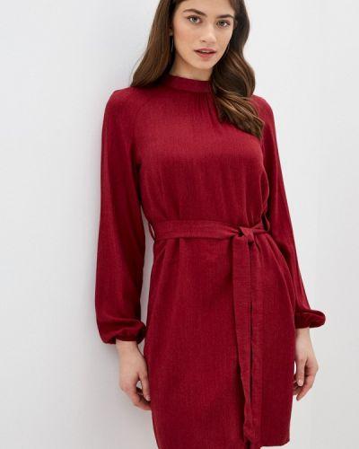 Прямое красное платье Trendyol