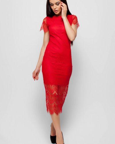 Красное коктейльное платье Karree