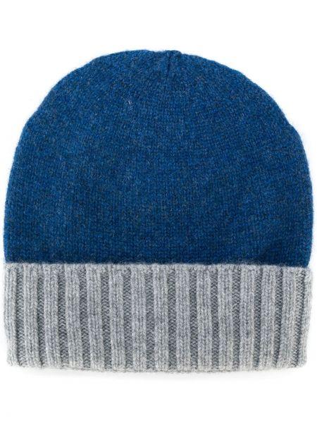 Кашемировая синяя шапка Dell'oglio