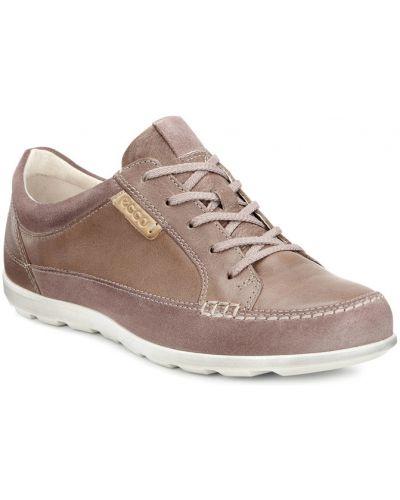 Кроссовки замшевые коричневый Ecco