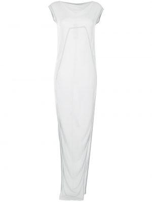 Sukienka długa z jedwabiu Rick Owens