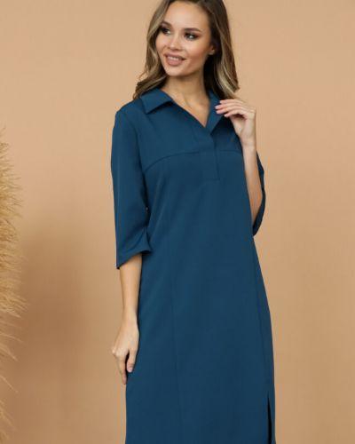 Повседневное прямое с рукавами платье-рубашка Ellcora