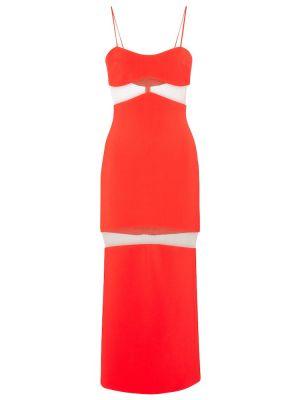 Платье миди из вискозы сетчатое David Koma