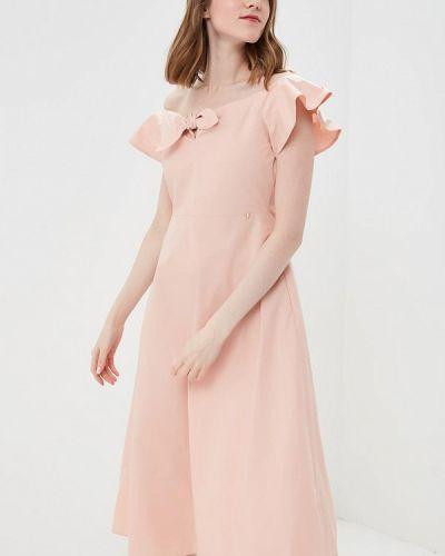 Платье розовое с открытыми плечами Rinascimento