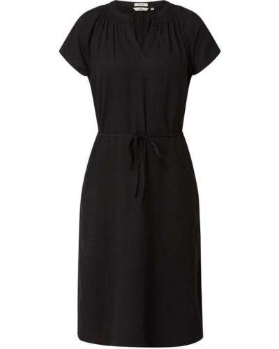 Czarna sukienka z wiązaniami Tom Tailor