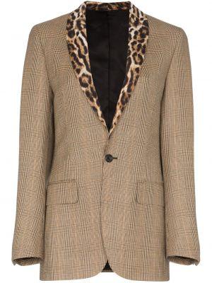 Шерстяной коричневый пиджак R13