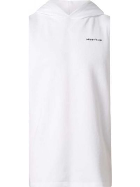 Bawełna frotte biały top z kapturem Calvin Klein Underwear
