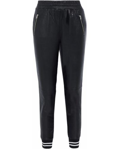 Czarne spodnie skorzane Walter Baker