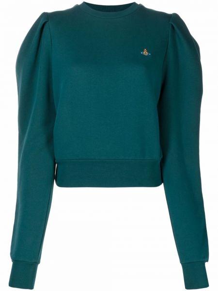 Зеленая кофта с вышивкой Vivienne Westwood