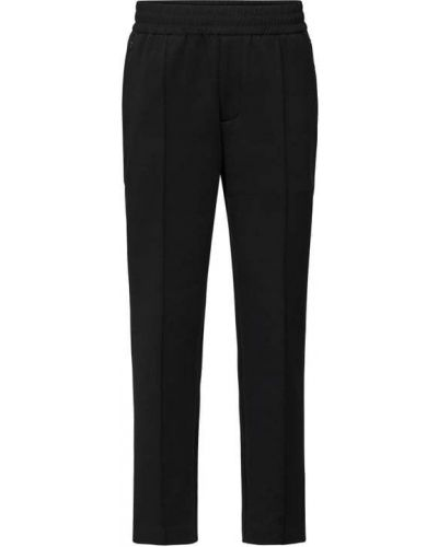 Czarne spodnie sportowe bawełniane Emporio Armani