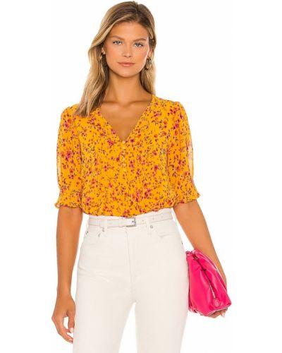 Блузка с V-образным вырезом - желтая 1. State