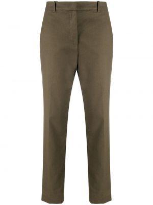 Льняные брюки - зеленые Aspesi