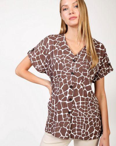 Коричневая блузка из вискозы Olsen