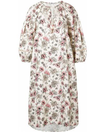 Платье миди льняное с цветочным принтом Morye Vilshenko