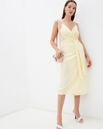 Желтое зимнее платье Imocean