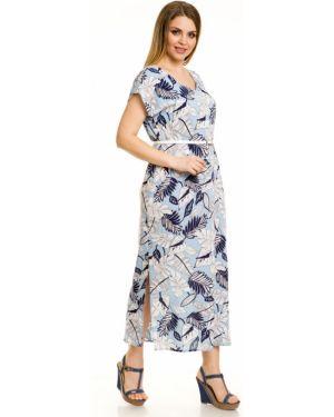 Летнее платье макси с V-образным вырезом Novita