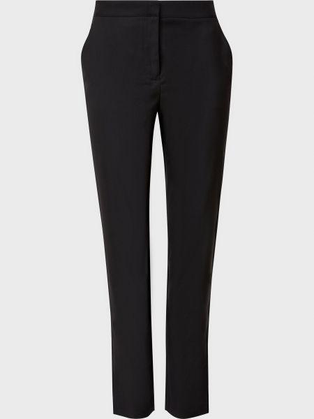 Черные брюки на молнии из вискозы Armani Exchange