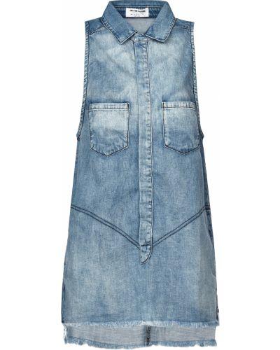 Хлопковое платье - синее Oneteaspoon