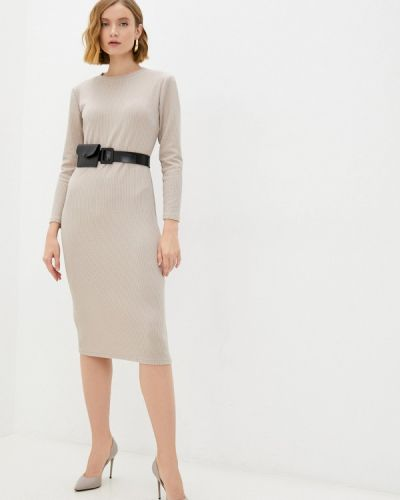 Прямое платье - бежевое Goldrai