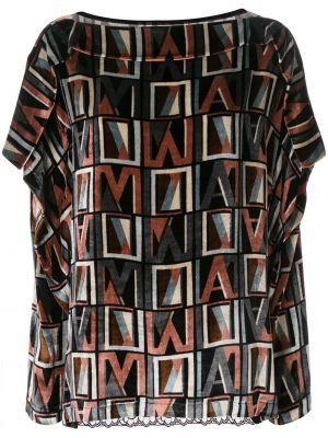 Блузка с длинным рукавом кружевная в полоску Antonio Marras