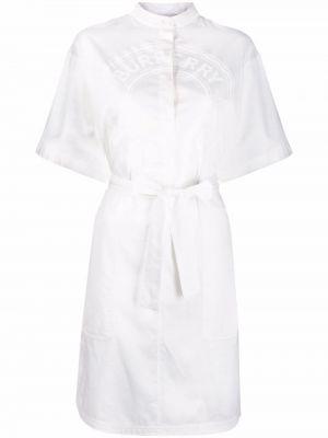 Платье рубашка - белое Burberry
