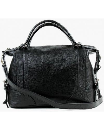 Черная сумка из натуральной кожи медведково