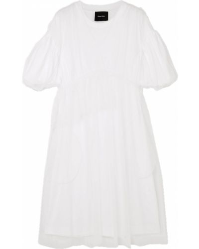Трикотажное платье миди - белое Simone Rocha