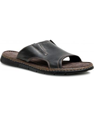 Czarne sandały na lato Lanetti