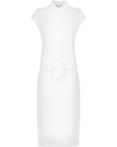 Прямое классическое платье миди на пуговицах с поясом A_plan_application