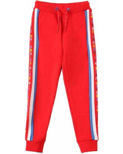 Трикотажные брюки в полоску эластичные Little Marc Jacobs