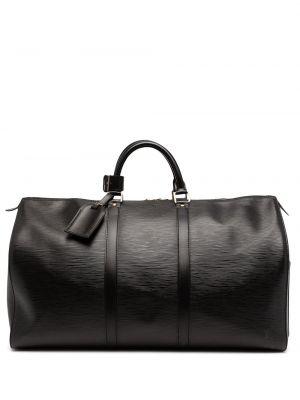 Черная кожаная сумка Louis Vuitton