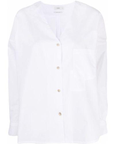 С рукавами льняная белая рубашка Closed